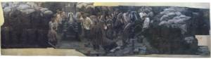 """Рубо Ф.О. (1856-1928). На батареї Станіславського. Фрагмент панорами """"Штурм 6 липня 1855 р."""". Росія ХХ ст."""