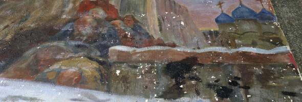 Реставрація картини «Таємний виїзд Івана Грозного перед опричниною» триває