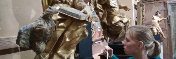 Фотозвіт про консервацію пам'яток барокової поліхромної скульптури
