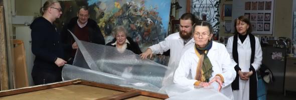 Картина Михайла Паніна в Національному науково-дослідному реставраційному центрі України