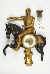 Годинник декоративний у вигляді вершника. ХІХ ст.